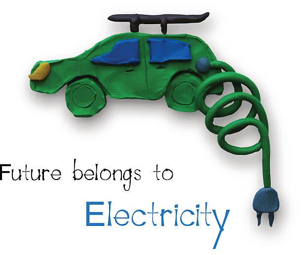 electric car - kabelskulpturen stock-grafiken, -clipart, -cartoons und -symbole