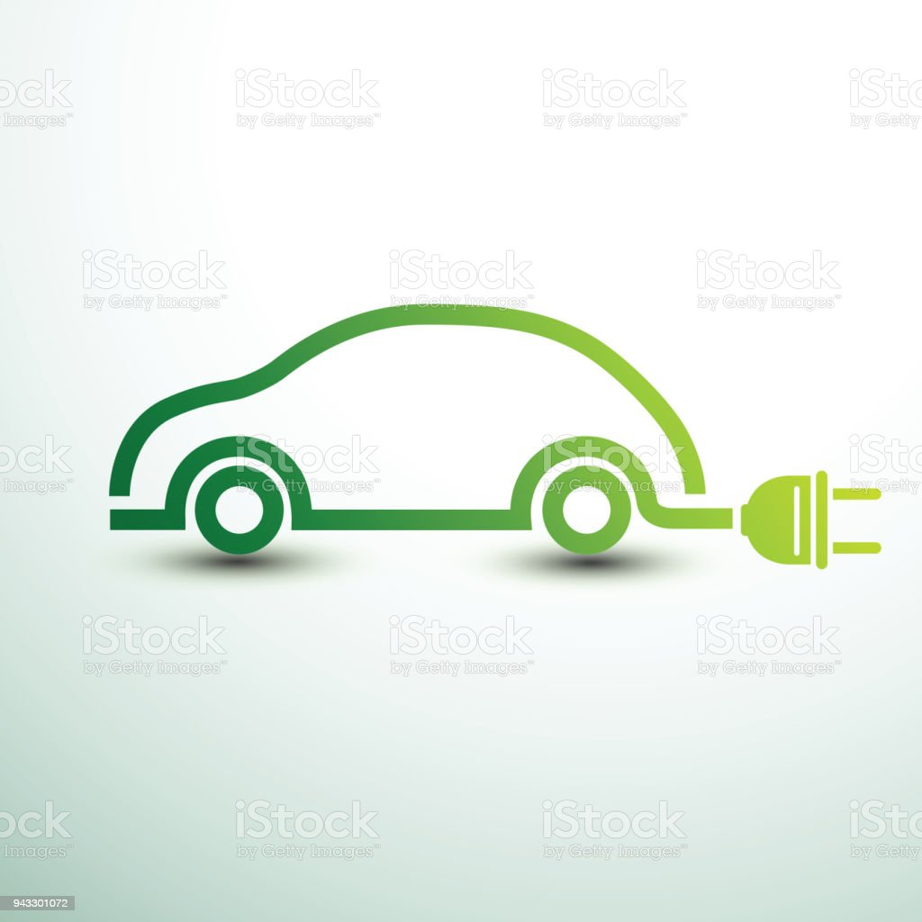 Electric car vector vector art illustration