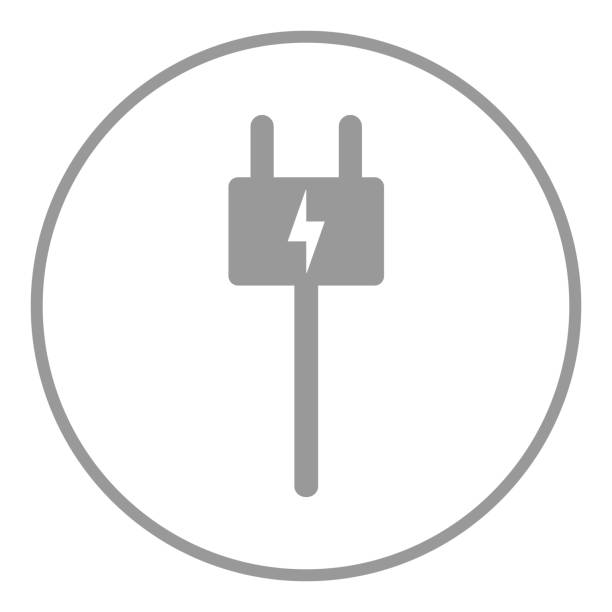 Electric charging station sign. Plug icon. Vector Electric charging station sign. Plug icon. Vector. cell phone charger stock illustrations