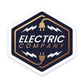 istock Electric Company Design Badge 1299828148