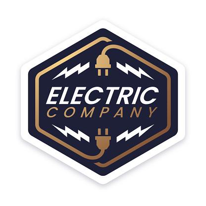 Electric Company Design Badge