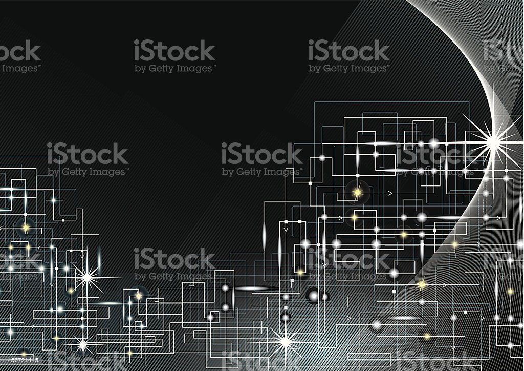 Electric Current Background royalty-free stock vector art