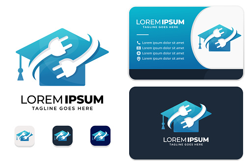 Electric education logo with business card design