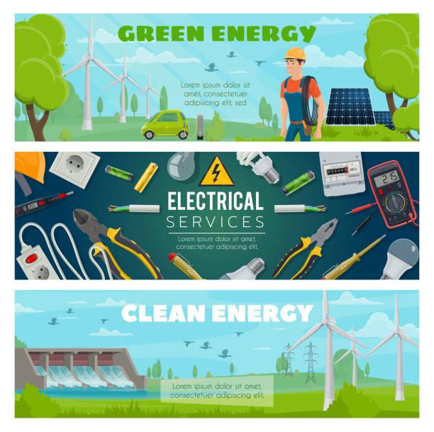 ilustraciones, imágenes clip art, dibujos animados e iconos de stock de planta de energía eléctrica, equipo de electricista - amperímetro