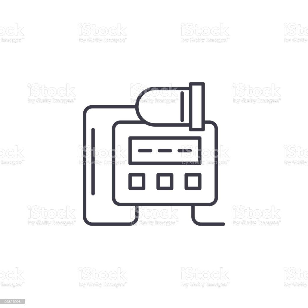 Elektrische Ausrüstung Lineare Symbol Konzept Elektrische Ausrüstung ...