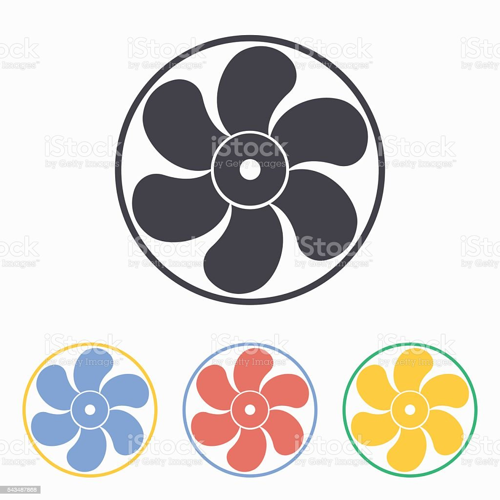 Electric Fan Vector Icon Vektor Illustration 543487868 Istock Lizenzfreies