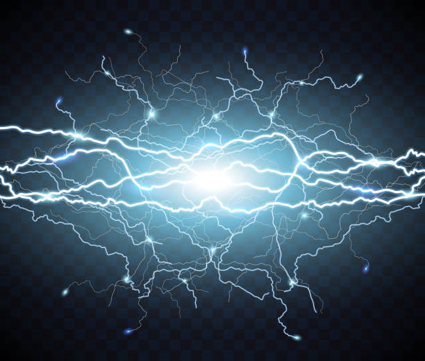 번개 전기 플래시입니다. 가벼운 썬 더 - lightning stock illustrations