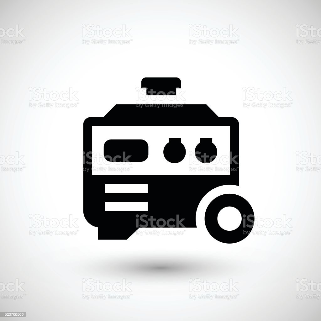Electric generator icon vector art illustration