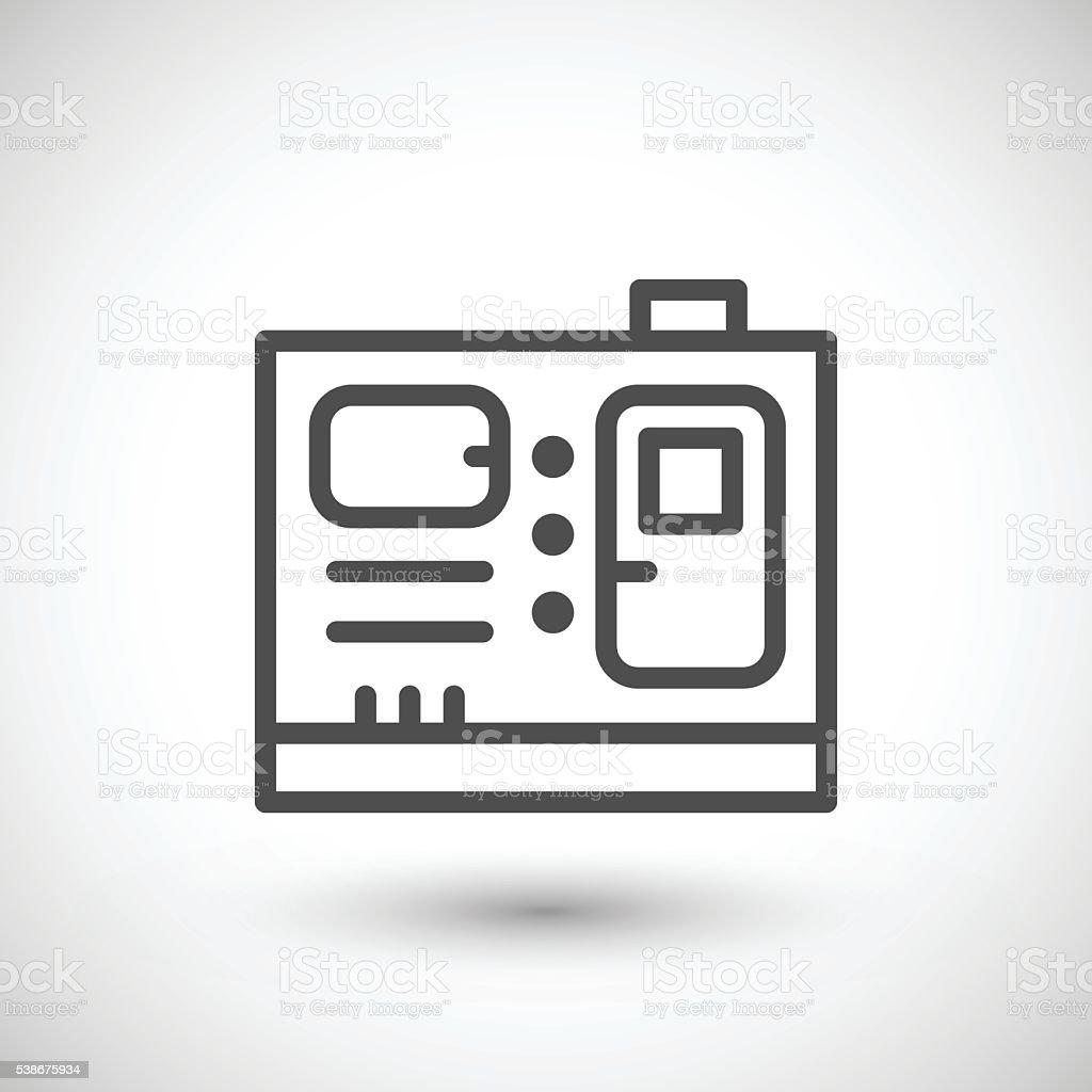 diesel generator icon. Electric Generator Line Icon Royalty-free Stock Vector Art \u0026amp; Diesel