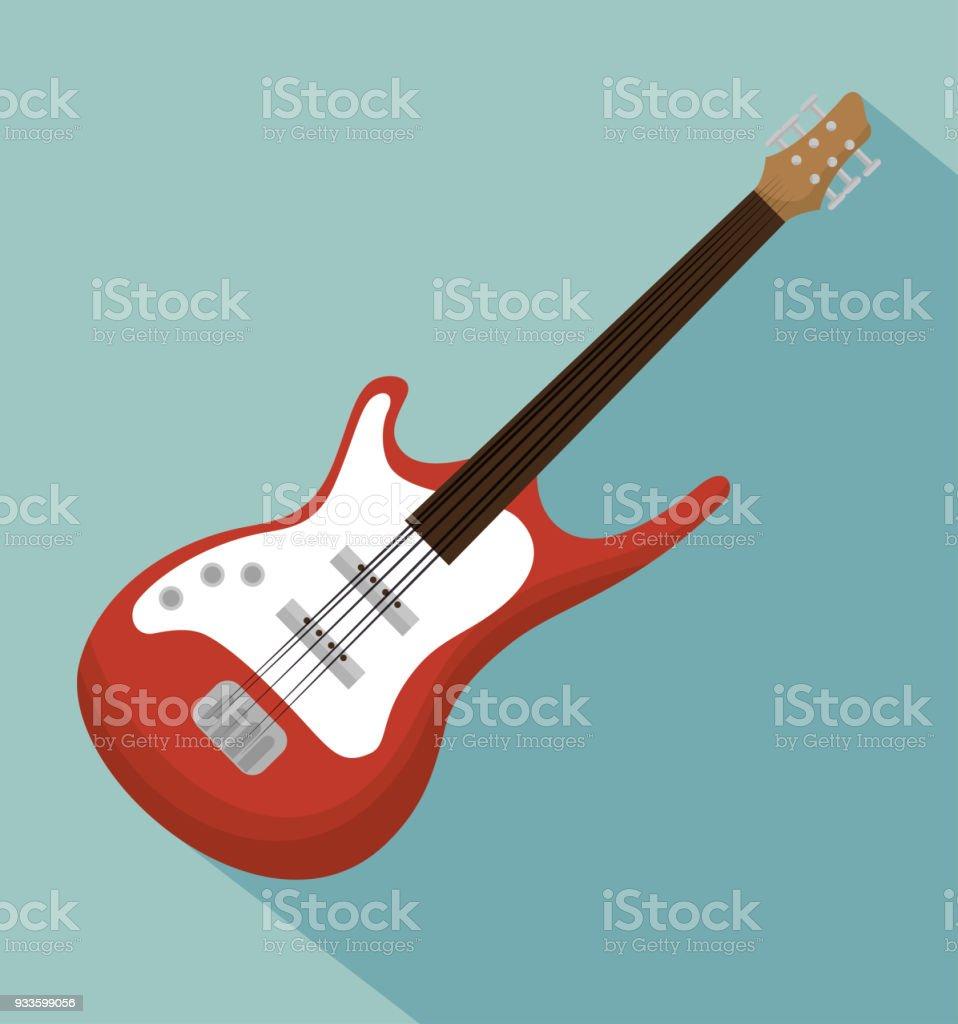 Ilustración de Icono De Instrumento Acústico De Guitarra Eléctrica y ...