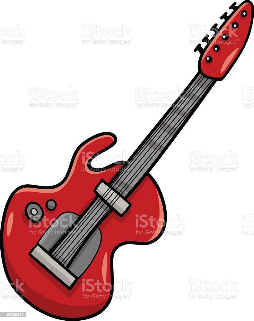 Guitare Electrique De Dessin Anime Clipart Vecteurs Libres De Droits Et Plus D Images Vectorielles De 2015 Istock