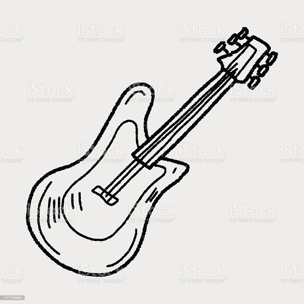 Ilustración de Guitarra Eléctrica Garabato y más banco de imágenes ...