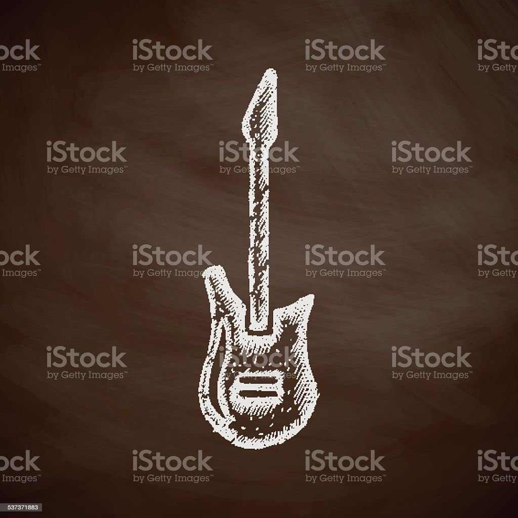 electric guitar icon vector art illustration