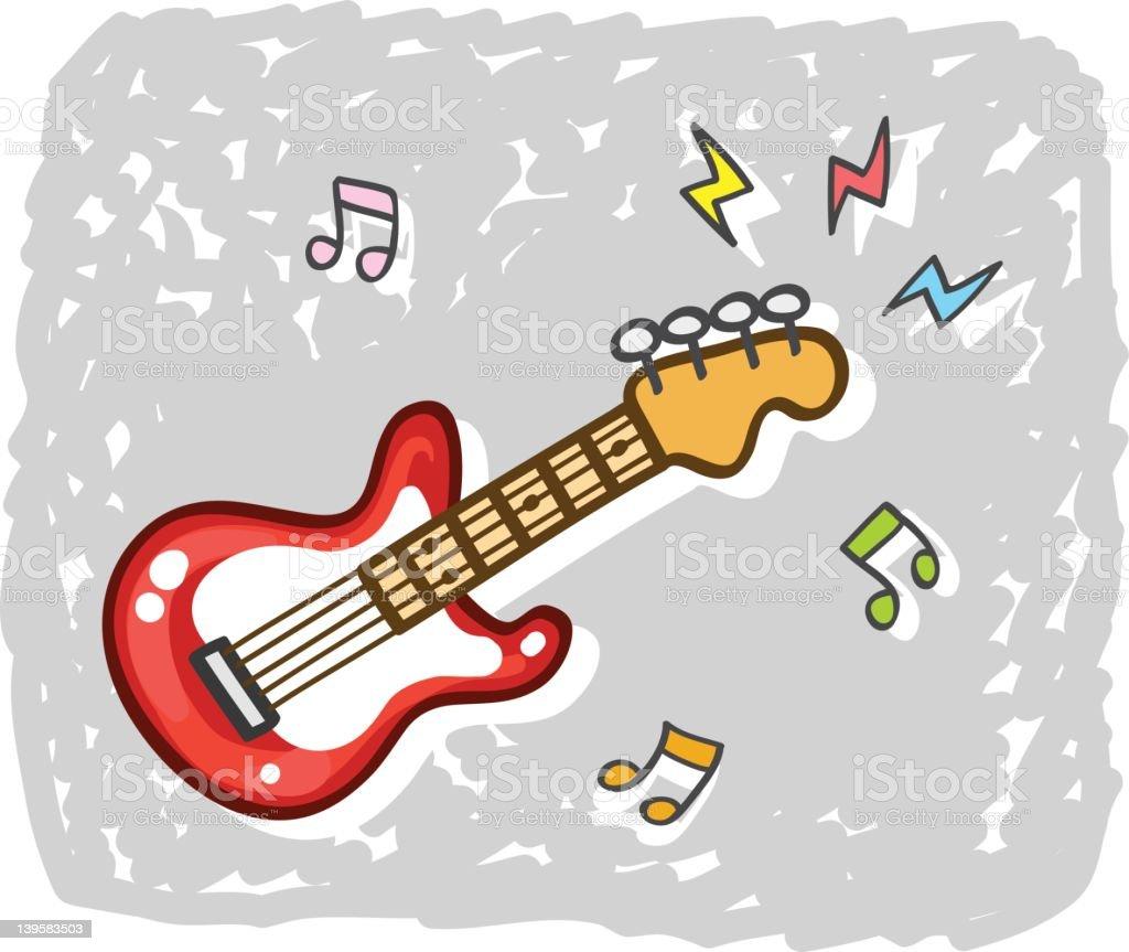 Ilustración De Música De Guitarra Eléctrica Ilustración De Dibujos