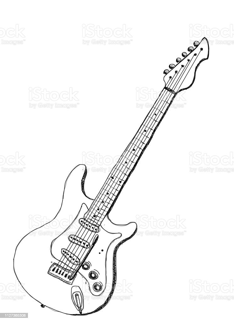 Electric Guitar Stock Illustration Download Image Now Istock