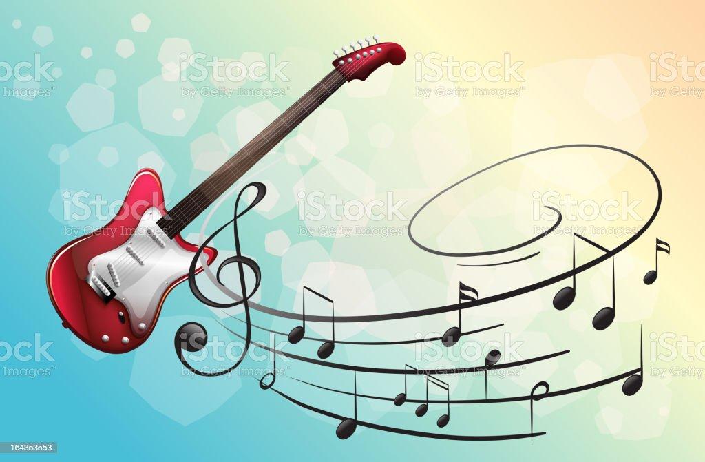 Electric guitar royalty-free stock vector art