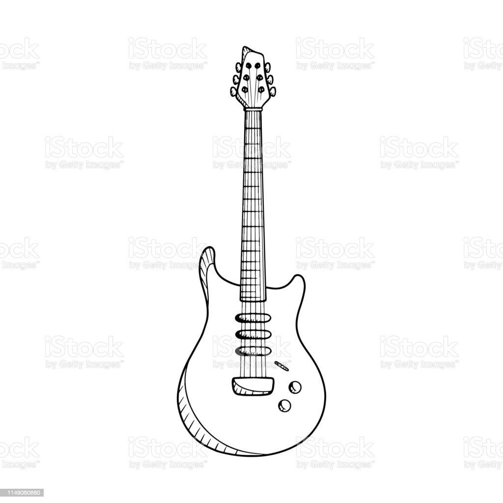 Vetores De Ilustracao Do Vetor Da Guitarra Eletrica Desenho Da