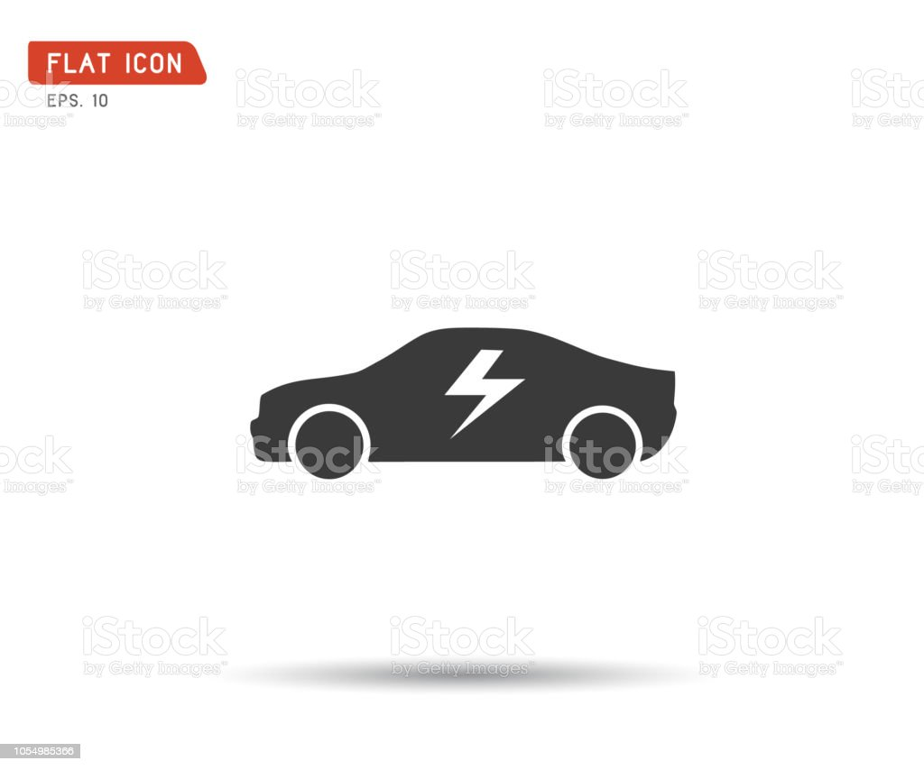 electric icon car logo vector illustration stock vector art more