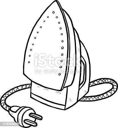 Electric Iron Stock Vector Art & More Images of 2015