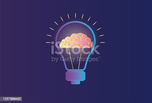 istock Electric light and brain 1257996452