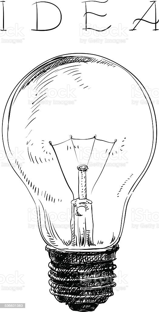 Electric lightbulb vector art illustration