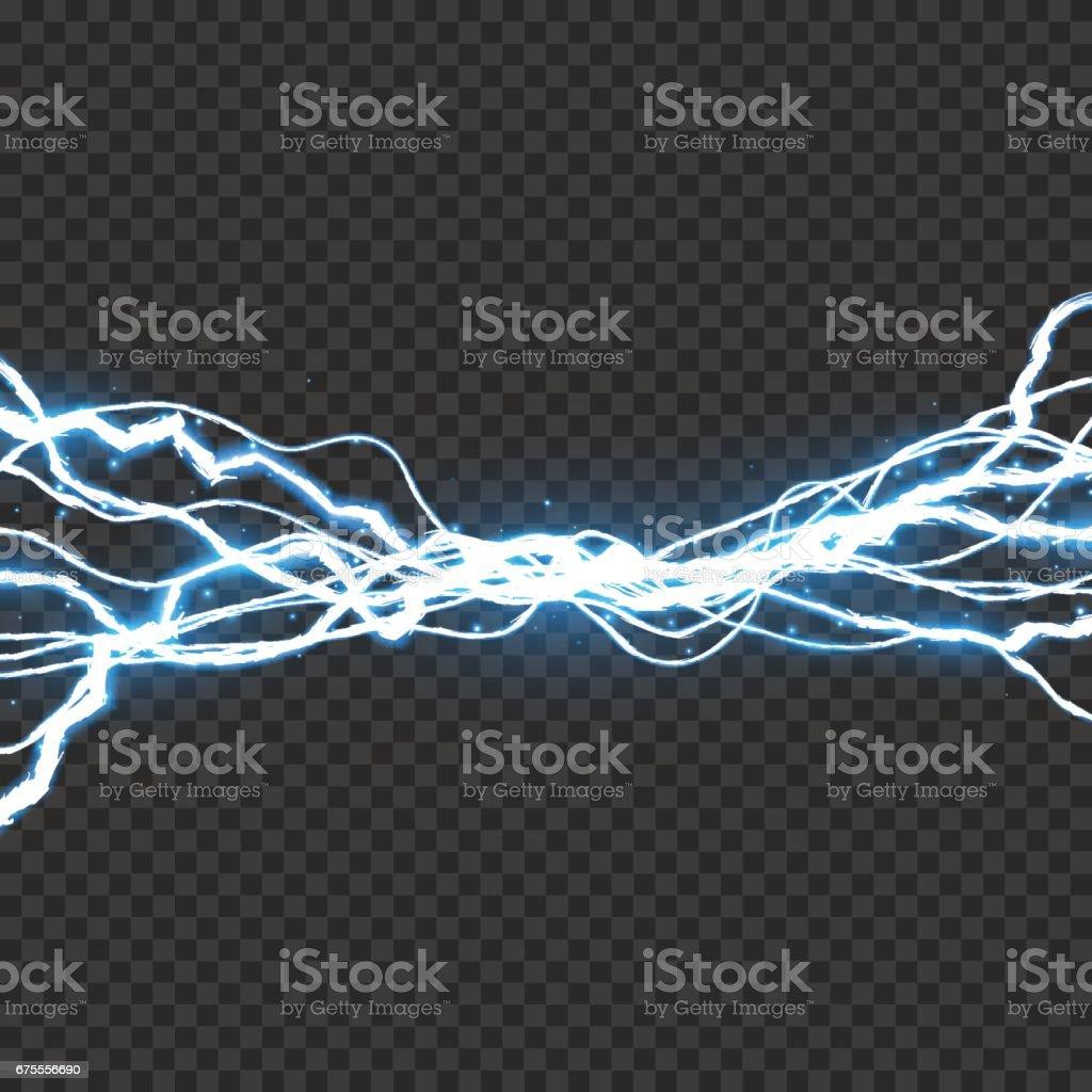 Electric lightning bolt. Energy effect illustration vector art illustration