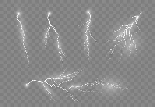 Electric lightning, thunder.