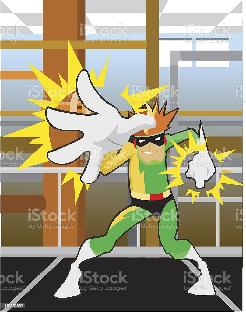 Electric Man Character vector art illustration
