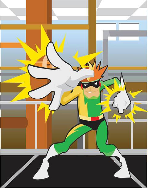 electric man character - byteandpixel stock illustrations