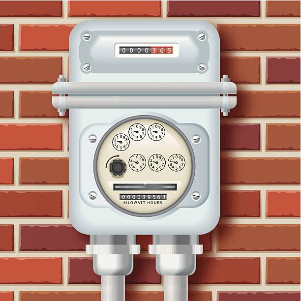 ilustraciones, imágenes clip art, dibujos animados e iconos de stock de medidor eléctrico - amperímetro