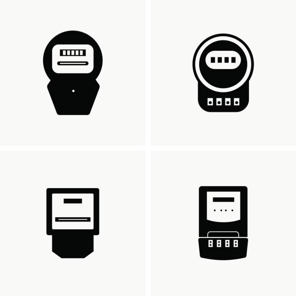 Best Electric Meter Illustrations, Royalty-Free Vector