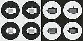 Electric motor icon set.