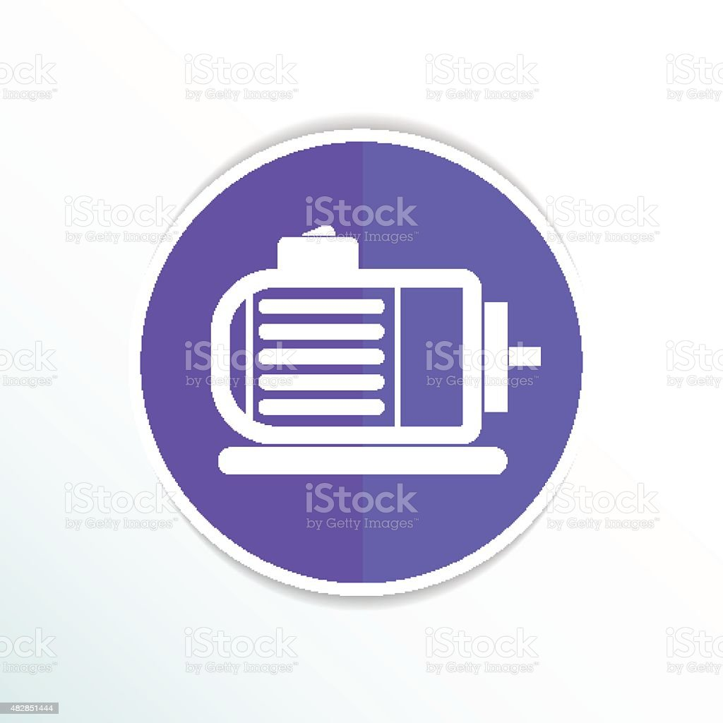 Electric Motor Icon Vector Engine Symbol Power Stock Vector Art