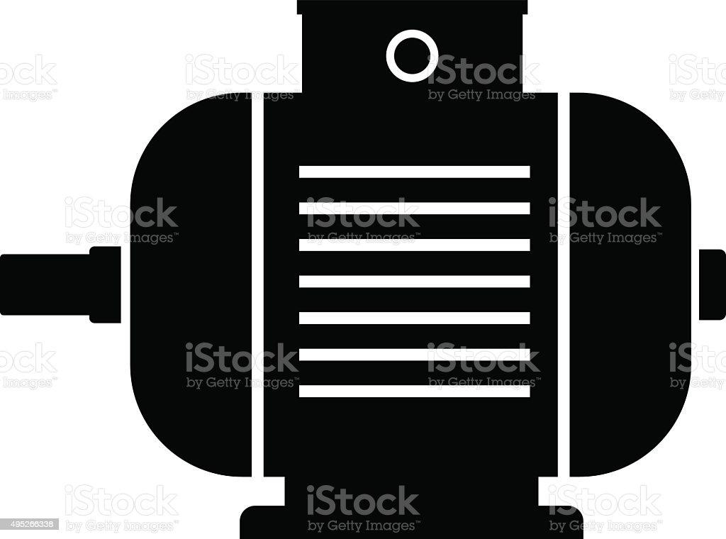 Electric Motorsymbol Vektor Illustration 495266338 | iStock
