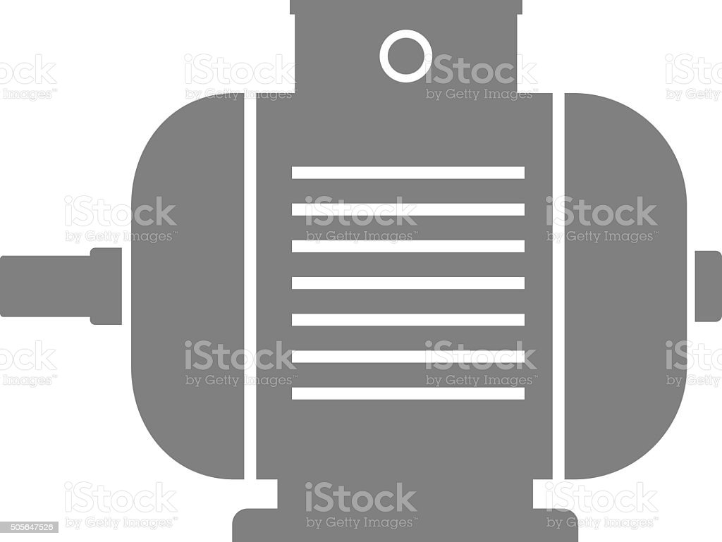 Electric motor icon vector art illustration