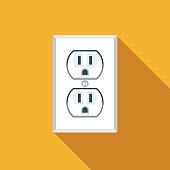 istock Electric Outlet Energy Icon 1180247765
