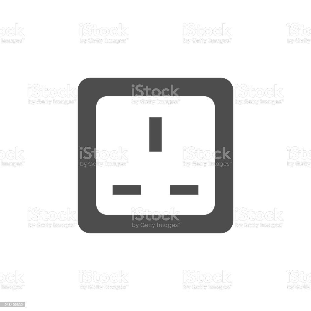 Elektrische Steckdose Symbol Elemente Der Websymbol ...