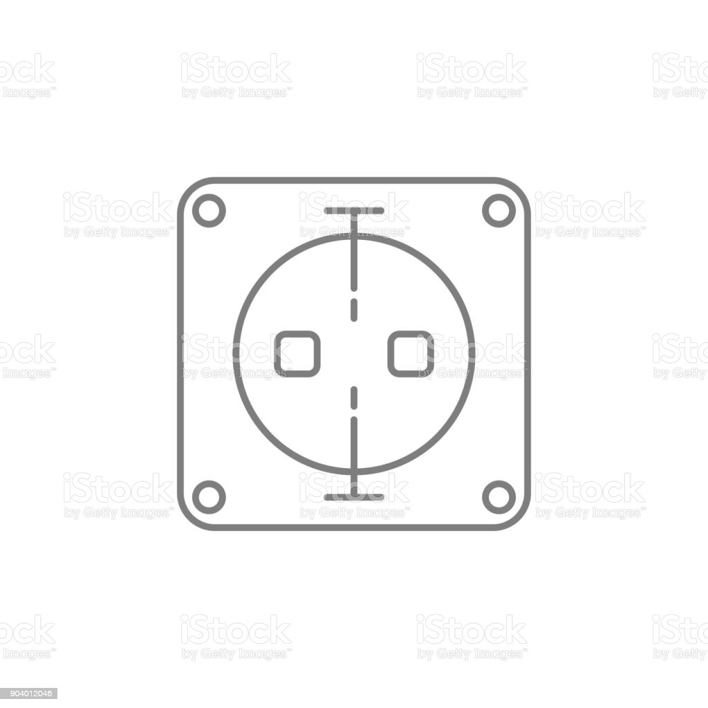 Elektrische Steckdose Symbol Webelement Premiumqualitätgrafikdesign ...
