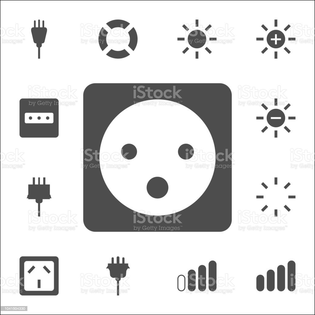 electric outlet icon. web icons universal set for web and mobile vector art illustration
