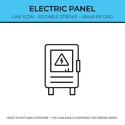 Electric Panel Line Icon