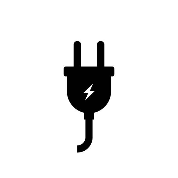 Electric plug icon simple design vector art illustration
