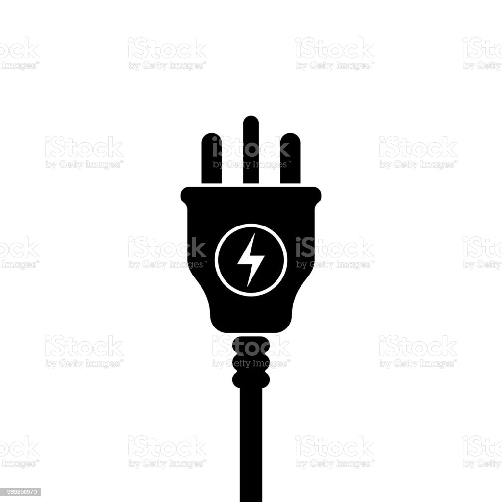 UK Electric Plug icon, symbol. United Kingdom, Great Britain standart. lightning sign - Royalty-free Bolt - Fastener stock vector