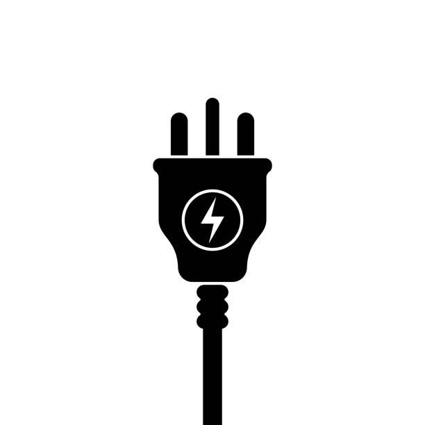 UK Electric Plug icon, symbol. United Kingdom, Great Britain standart. lightning sign UK Electric Plug icon, symbol. United Kingdom, Great Britain standart. lightning sign wired stock illustrations