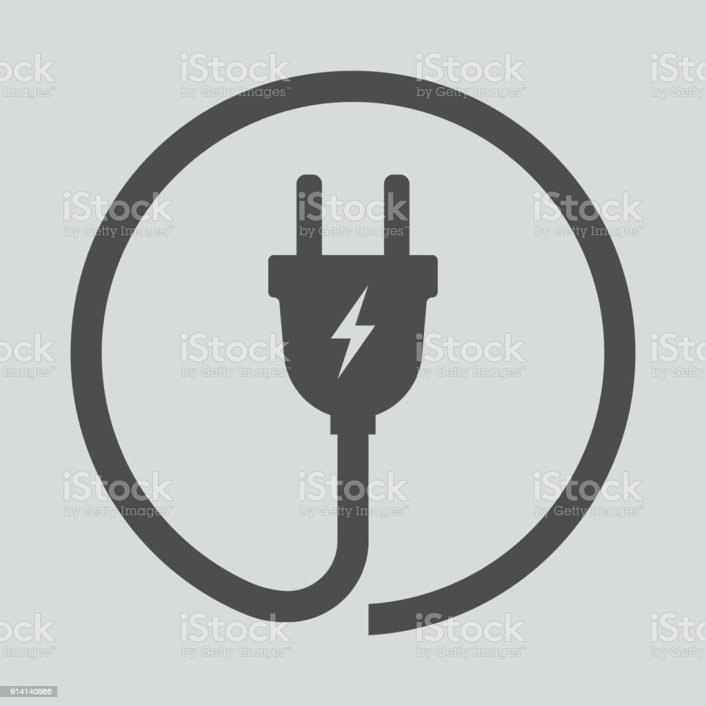 Electric Plug Icon Vector Illustration Stock Vector Art & More ...