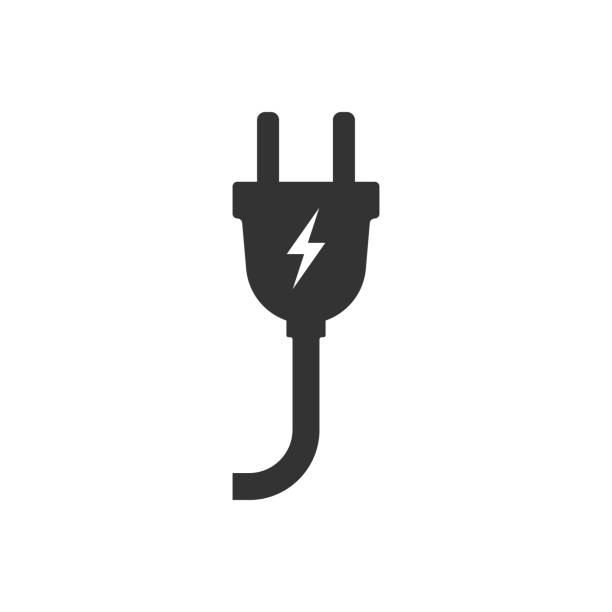 illustrazioni stock, clip art, cartoni animati e icone di tendenza di electric plug icon. vector illustration. - vitalità