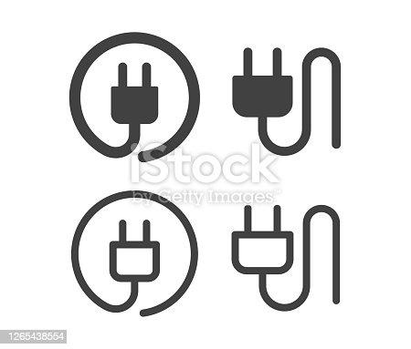 istock Electric Plug - Illustration Icons 1265438554