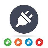 Electric plug sign icon. Power energy symbol.
