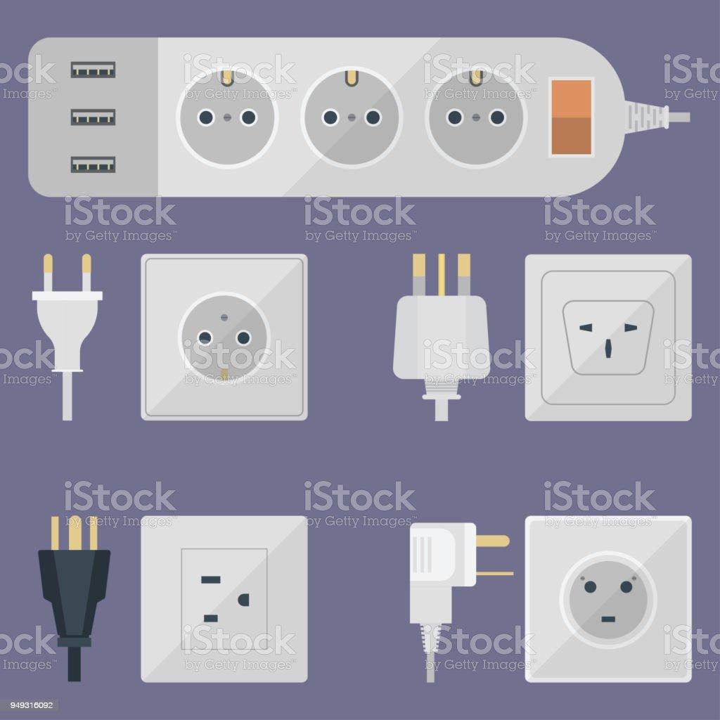Elektrische Stecker Stack Outlet Abbildung Energie Elektrische ...
