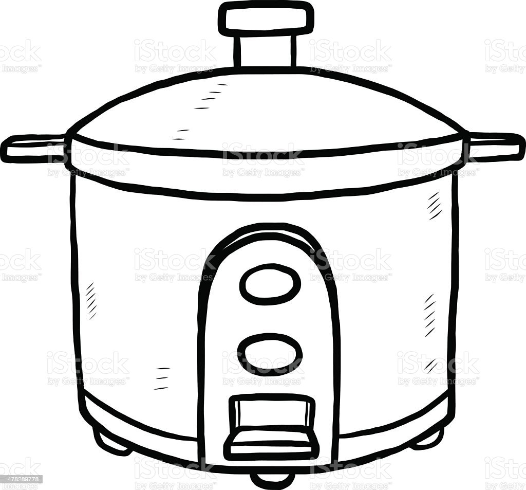 Cartoon Electric Cooker ~ Electric rice cooker stock vector art more images of