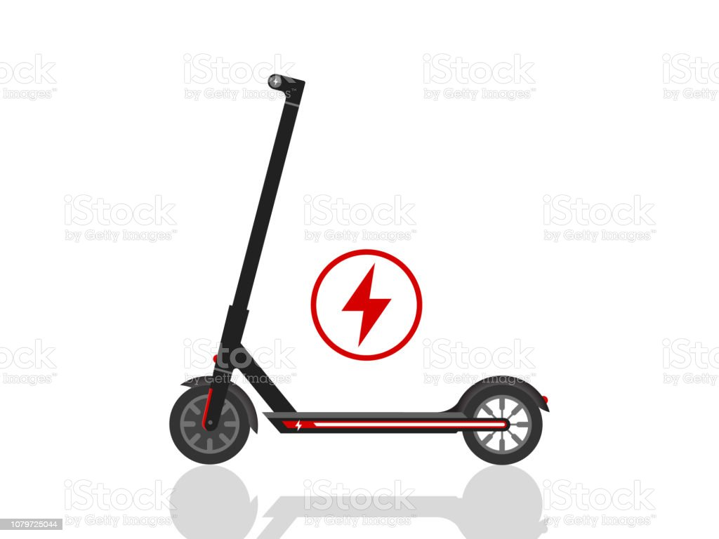 Elektro Scooter Icon Illustration Vektor Stock Vektor Art Und Mehr